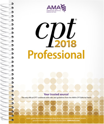 CPT® 2018 Professional Spiral Book Cover