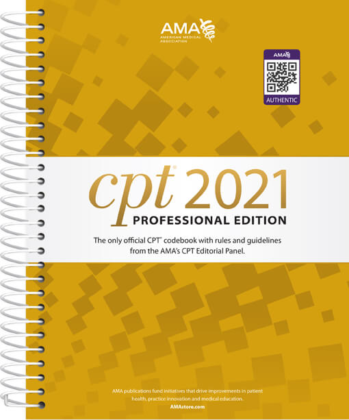 CPT® 2021 Professional Spiral Book Cover